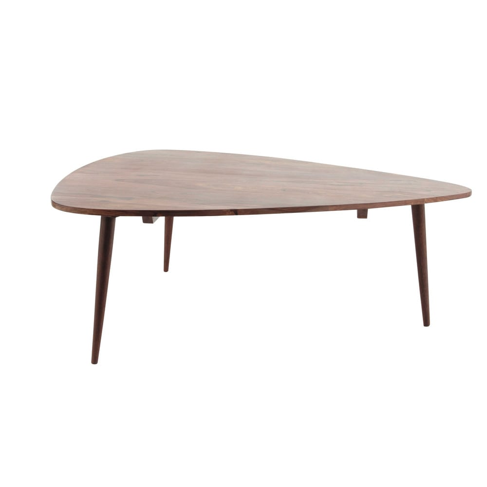 Solid sheesham wood vintage coffee table w 117cm andersen for Table salon maison du monde