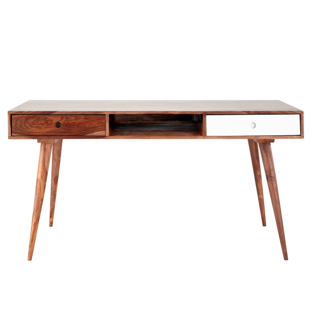 Solid Sheesham Wood Vintage Desk Andersen Maisons du Monde
