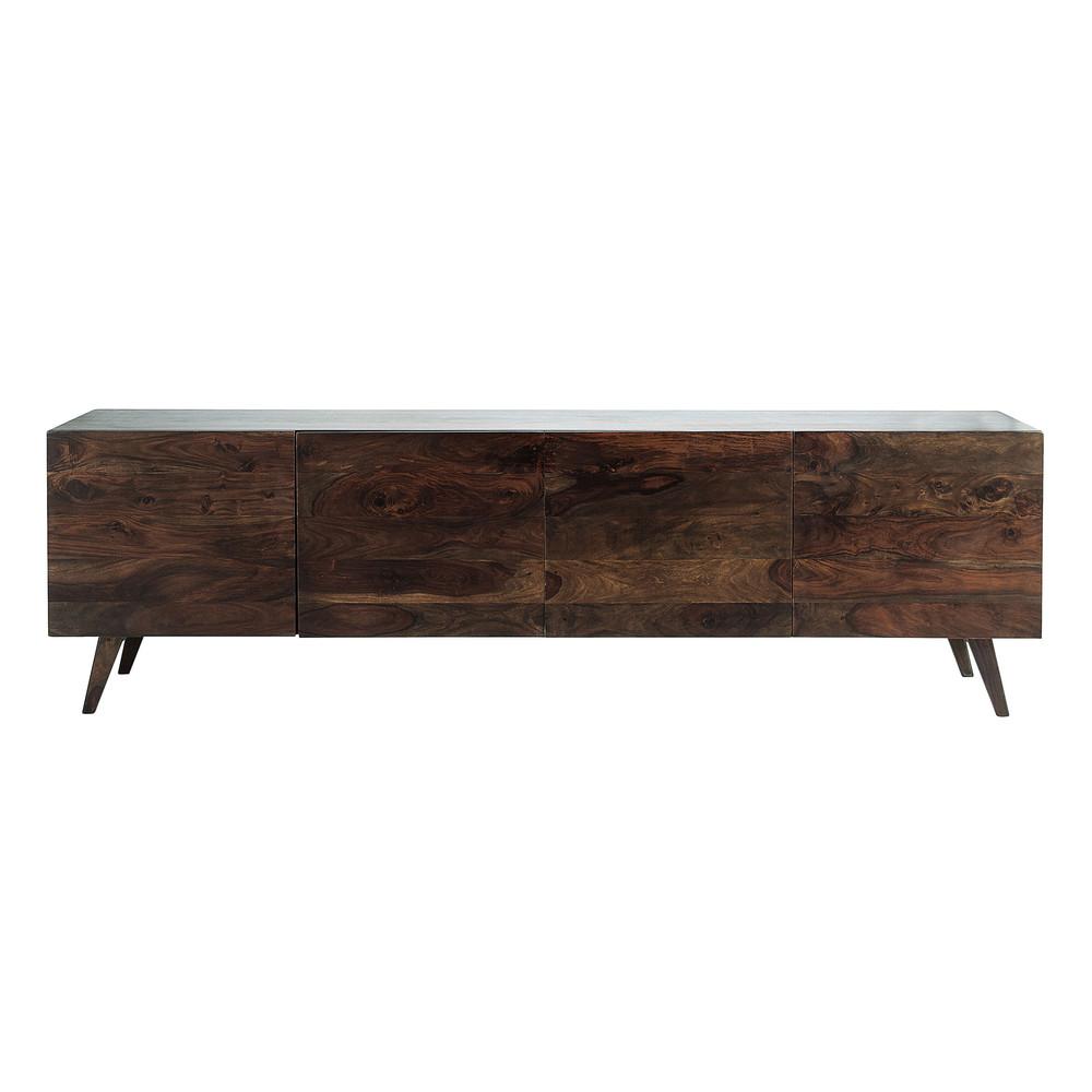 Solid sheesham wood vintage sideboard in brown w 240cm for Sideboard 240 cm