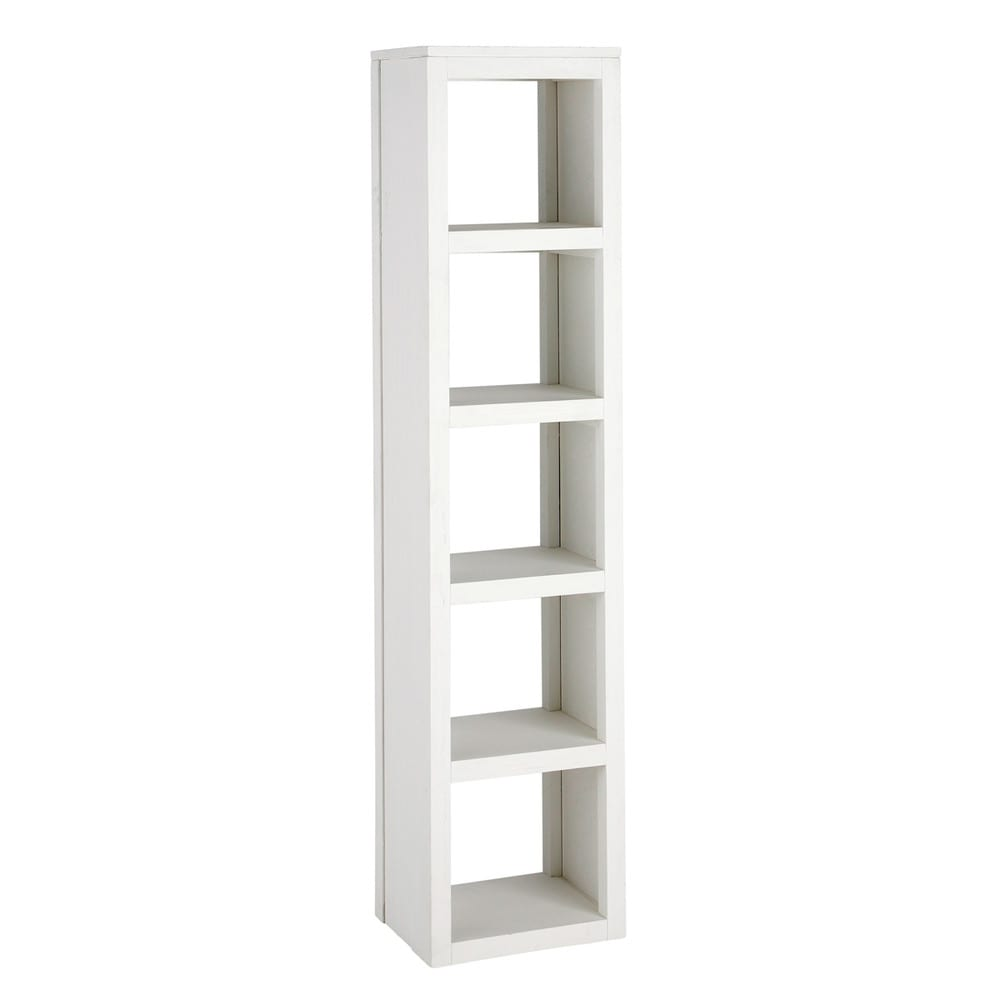 Solid Wood Shelf Tower Unit In White H 170cm White