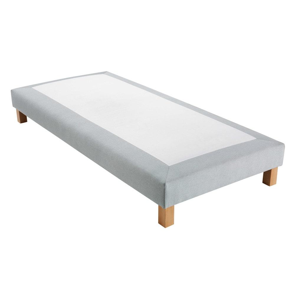 sommier tapissier tissu gris 80x200cm hubert maisons du monde. Black Bedroom Furniture Sets. Home Design Ideas