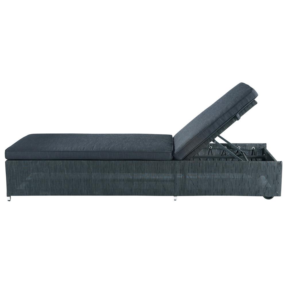 sonnenliege aus stoff l 208 cm anthrazit ibiza ibiza maisons du monde. Black Bedroom Furniture Sets. Home Design Ideas