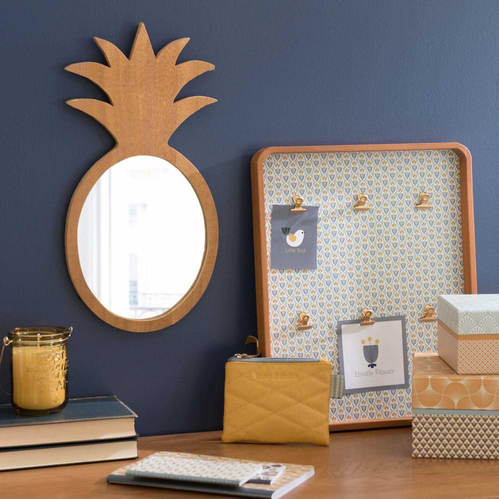 Specchio Ananas In Legno H 40 Cm Maisons Du Monde