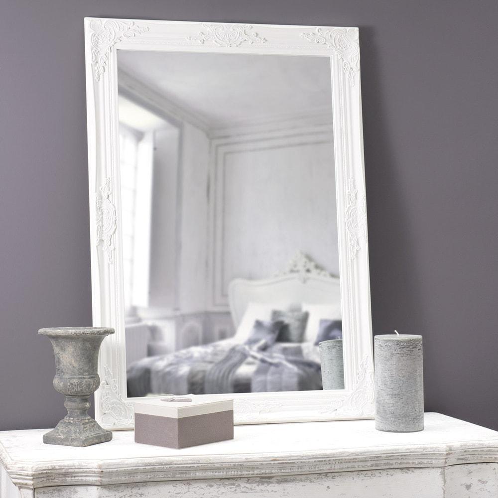 Specchio bianco h 104 cm enzo maisons du monde - Specchio bianco ...