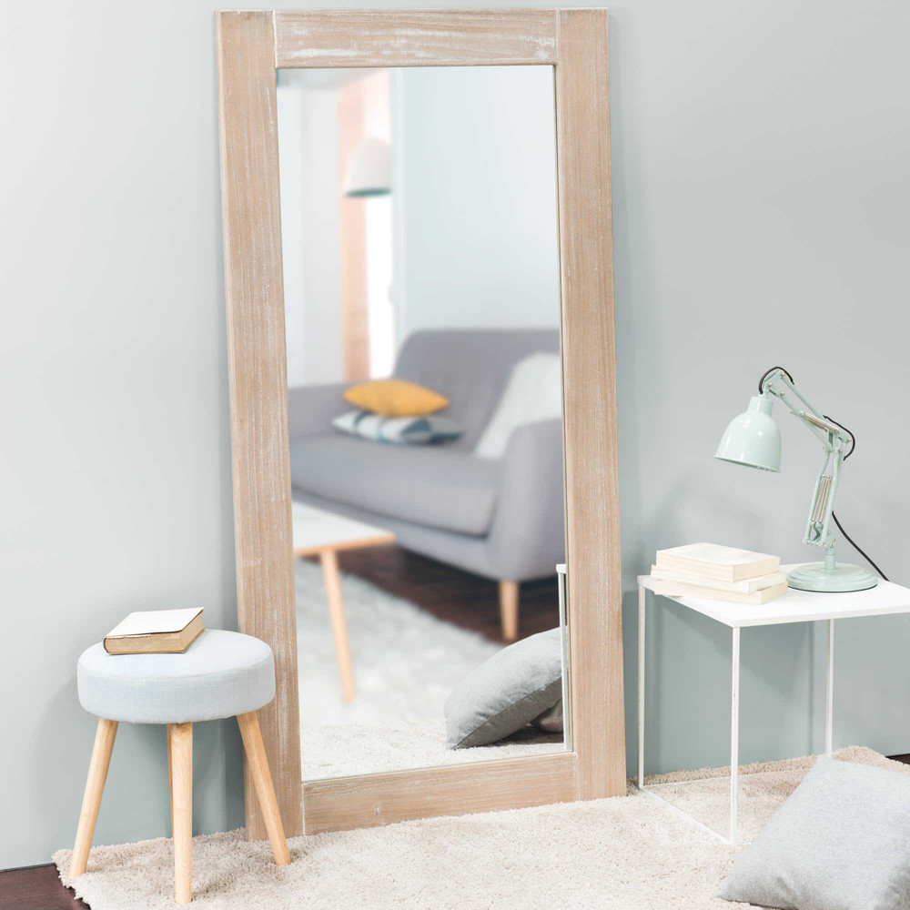 Specchio effetto biaccato natura 160x80 maisons du monde for Specchio da parete maison du monde