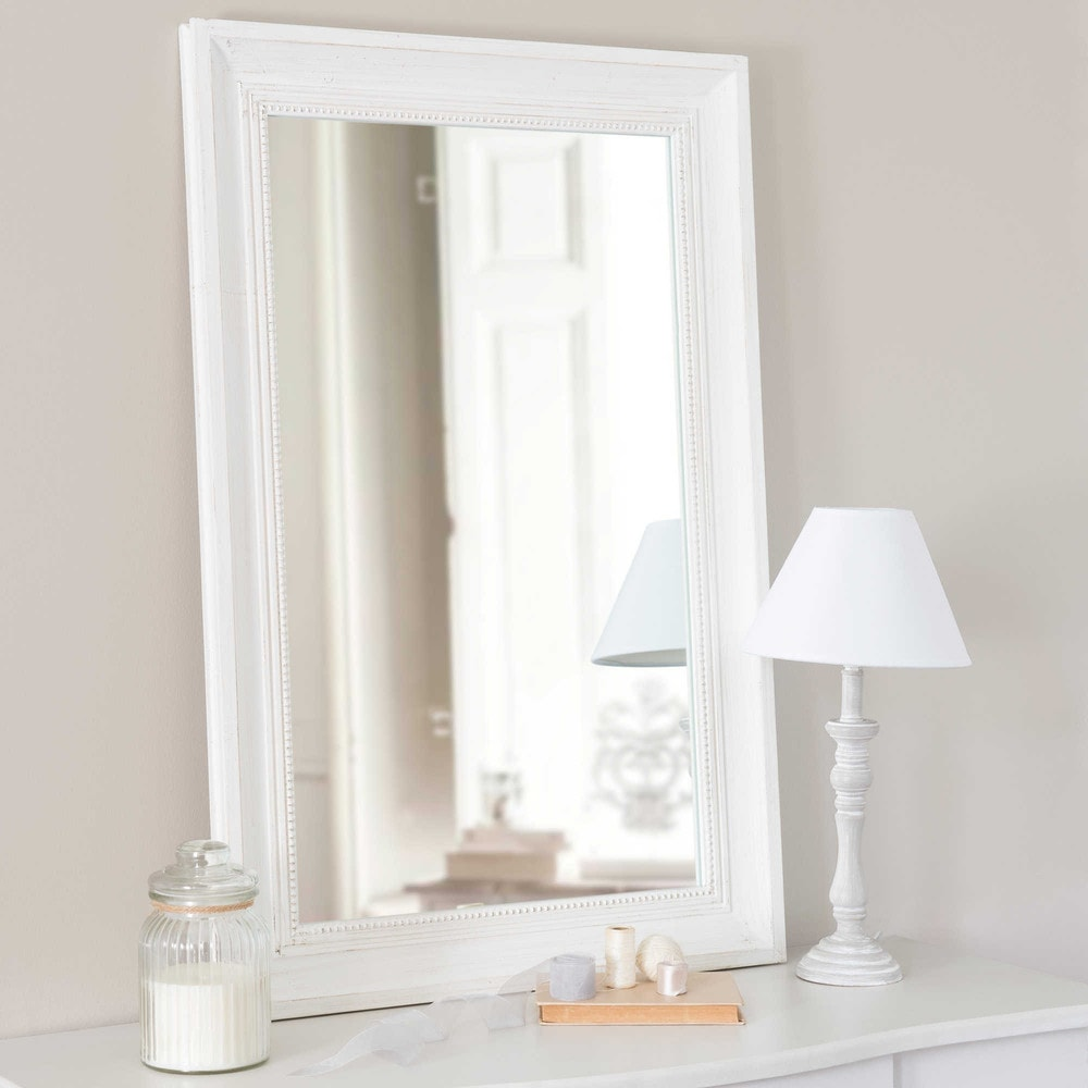 Specchio in legno cru h 90 cm honor maisons du monde - Specchio shabby maison du monde ...