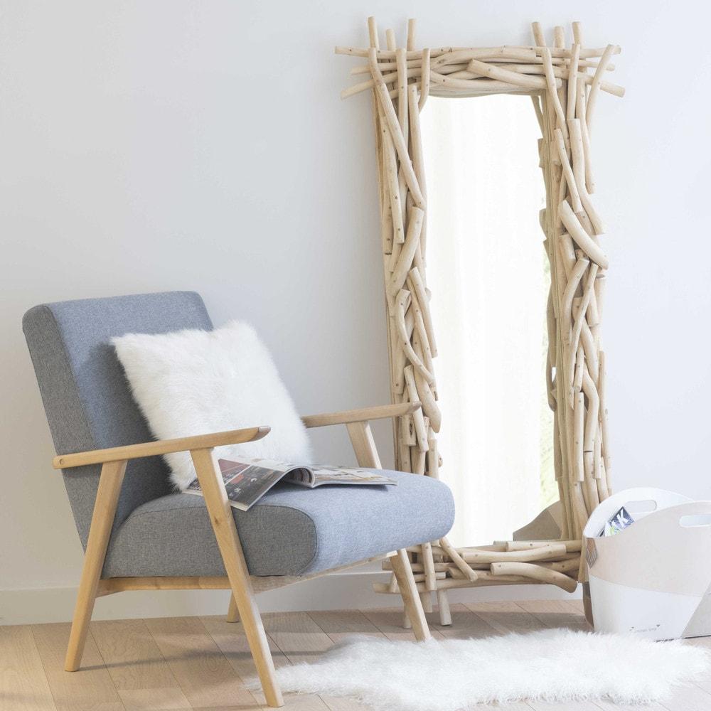 Specchio in legno h 153 cm rivage maisons du monde for Specchio da parete maison du monde