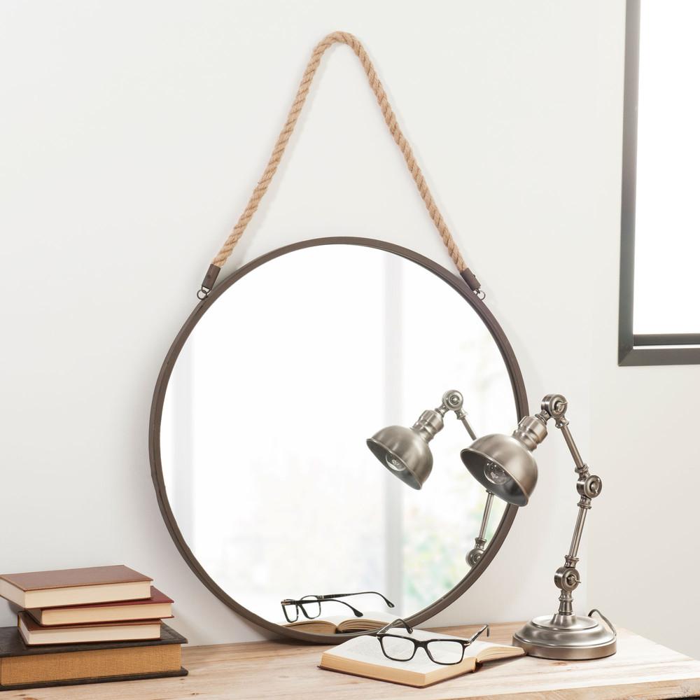 Specchio in metallo d 60 cm blake rusty maisons du monde for Casa miroir rond