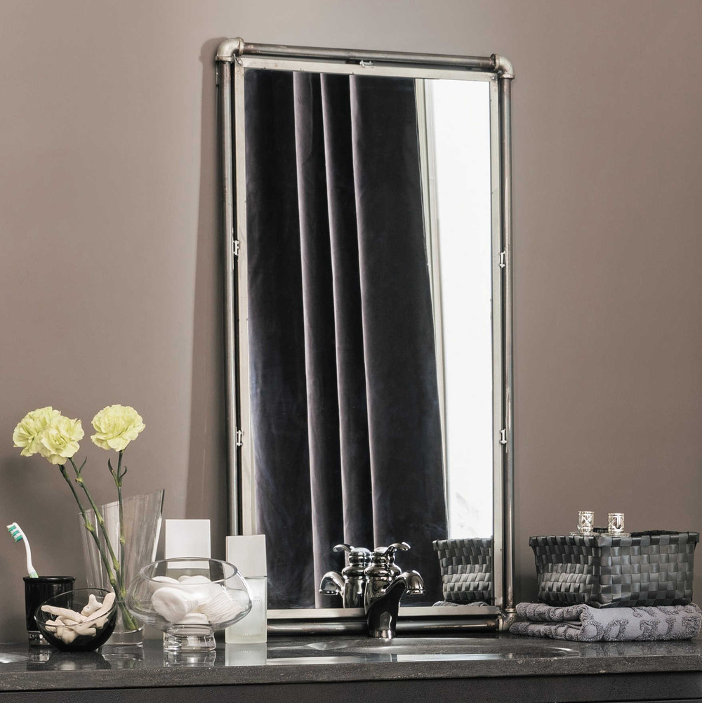 Specchio in metallo gordon maisons du monde - Maison du monde specchi bagno ...