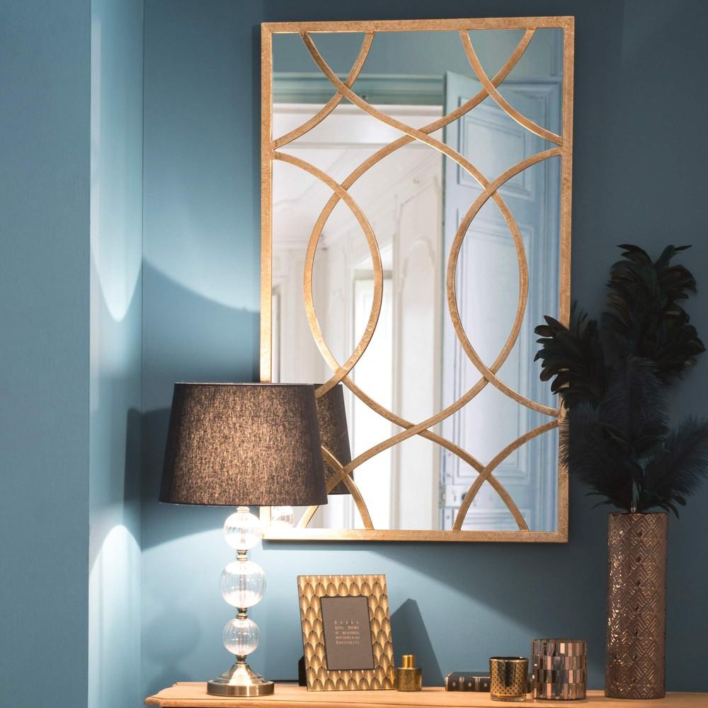 Specchio in metallo h 100 cm olney maisons du monde - Lucidare metallo a specchio ...