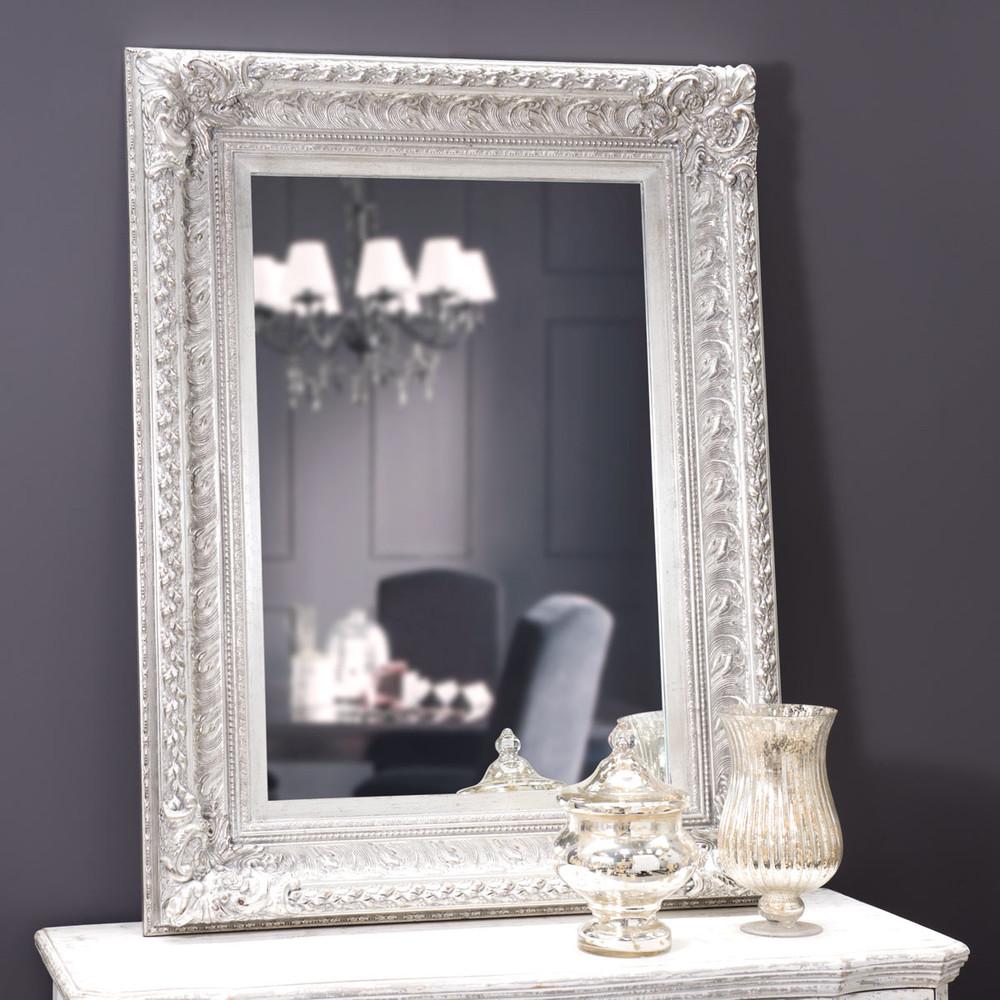Specchio marquise argento 125x95 maisons du monde for Specchio argento
