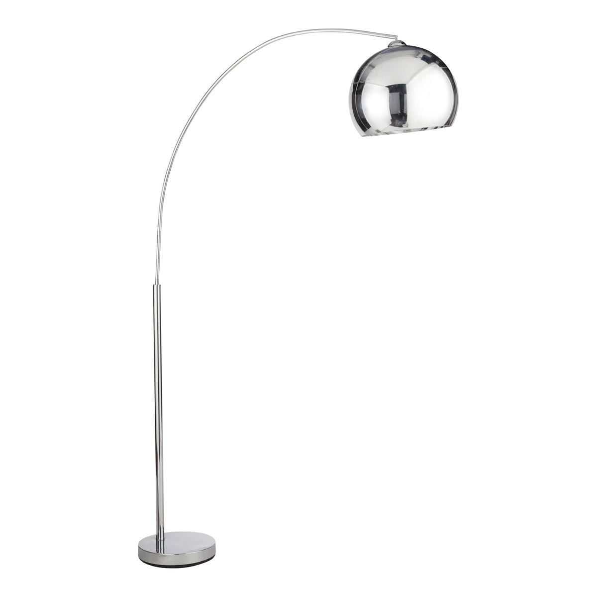 Chrome finish metal floor lamp h 200cm sphere maisons du monde