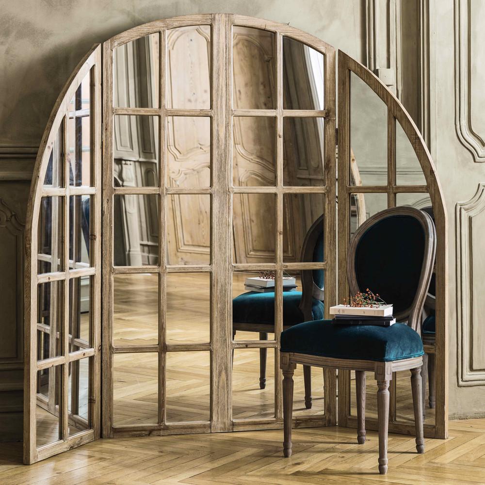spiegel achter houten raamwerk lengte 200 cm marceau maisons du monde. Black Bedroom Furniture Sets. Home Design Ideas