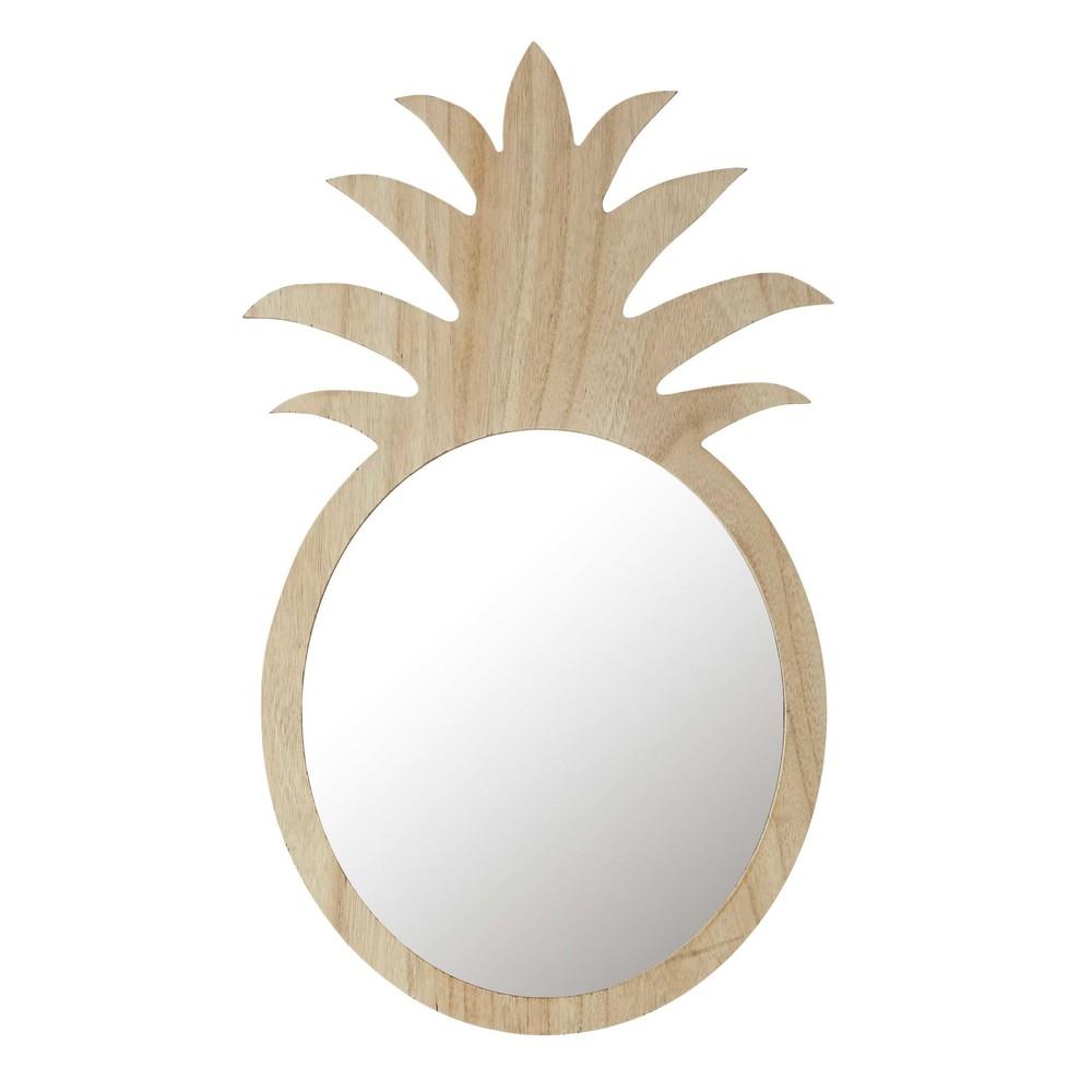 spiegel ananas aus naturholz h 65 cm alix maisons du monde