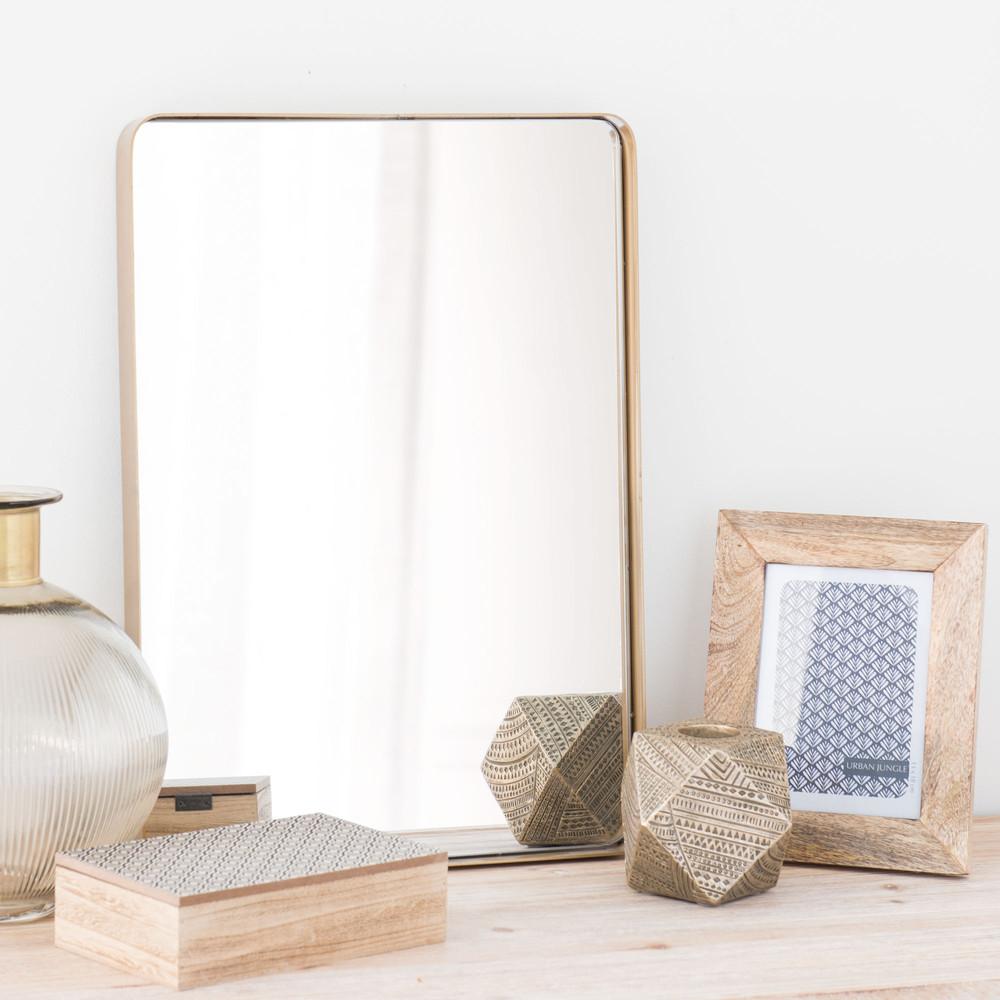 spiegel aus metall vergoldet d 50 cm ferao maisons du monde. Black Bedroom Furniture Sets. Home Design Ideas