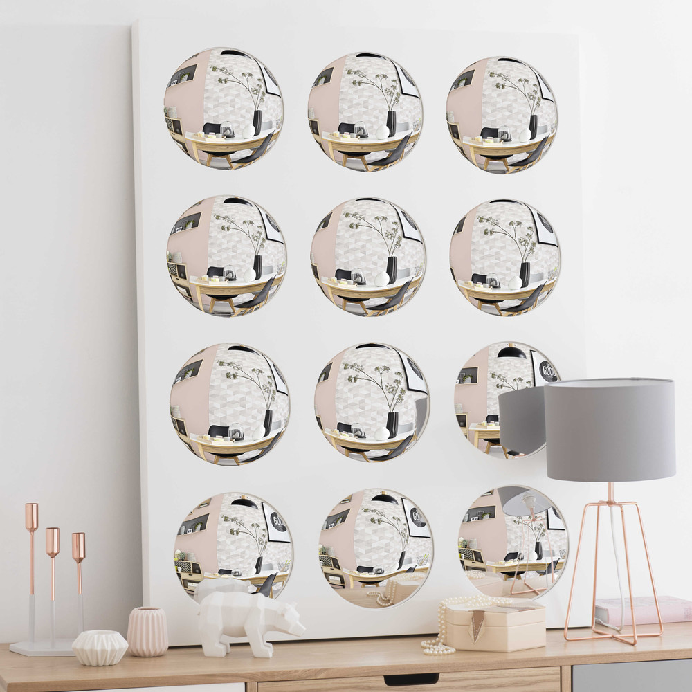 spiegel hollywood mit holzrahmen h 90 cm wei maisons du monde. Black Bedroom Furniture Sets. Home Design Ideas
