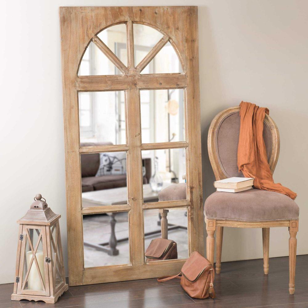 Spiegel in fensteroptik aus holz h 150 cm st remy maisons du monde - Spiegel aus holz ...