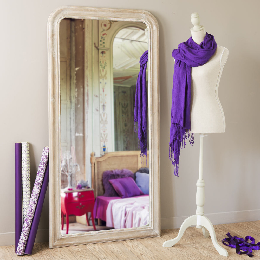 spiegel louis naturel 160x80 maisons du monde. Black Bedroom Furniture Sets. Home Design Ideas