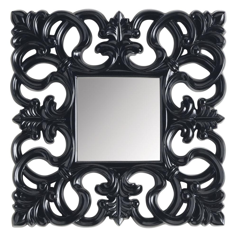 Spiegel rivoli vierkant zwart maisons du monde for Spiegel 90x120