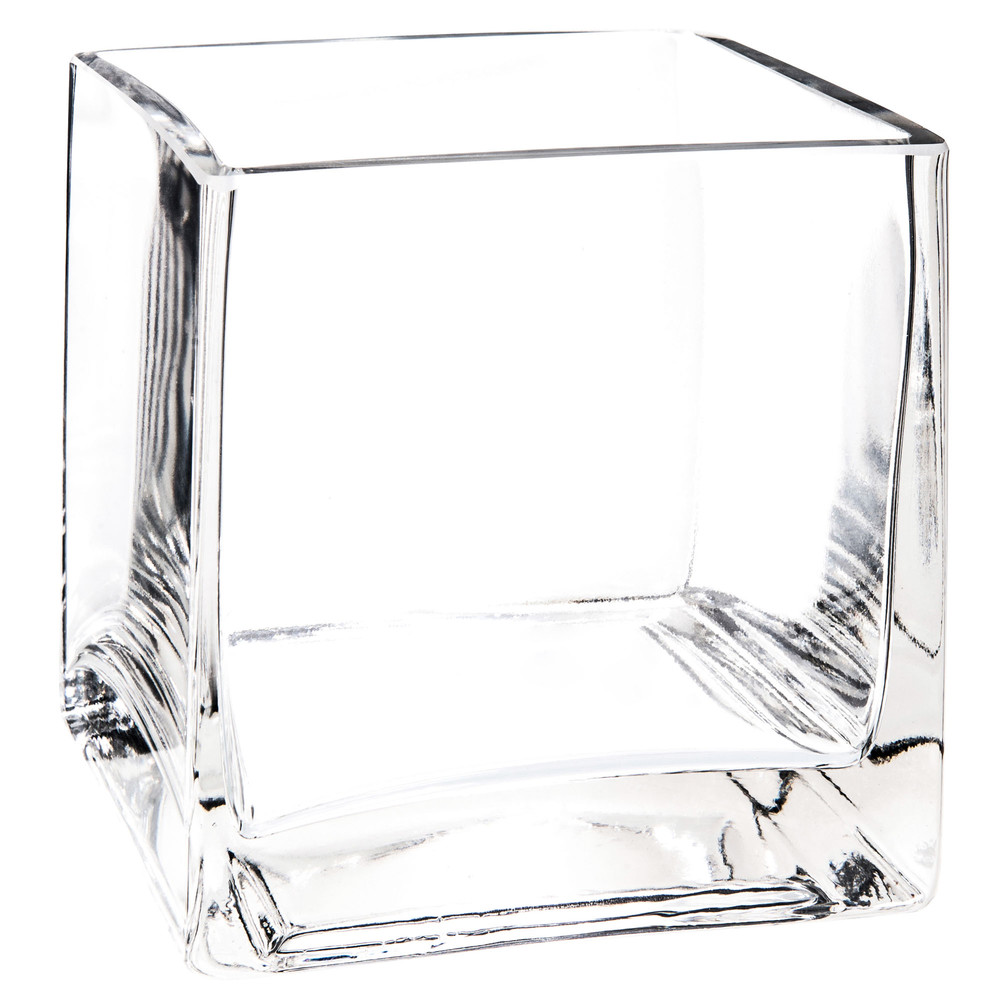 square glass vase h 10 cm maisons du monde. Black Bedroom Furniture Sets. Home Design Ideas