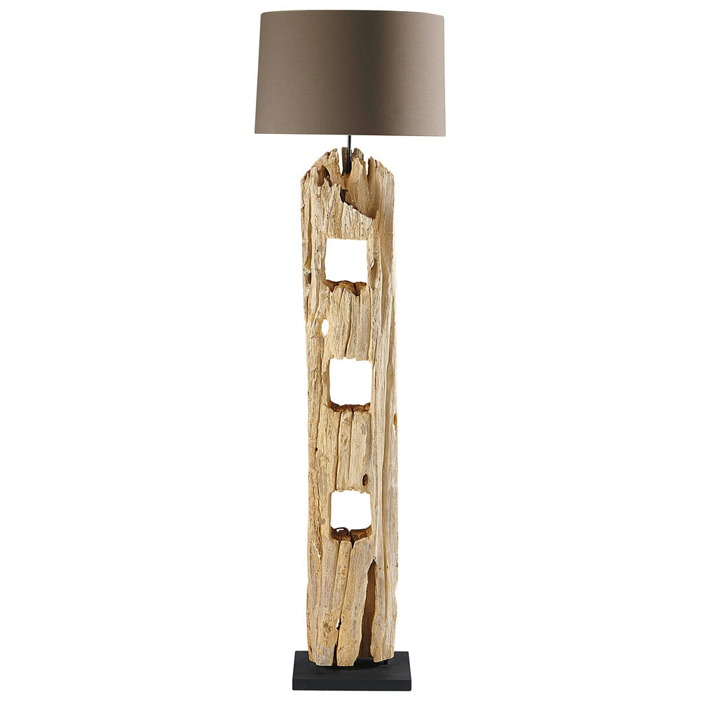 staande lamp in hout h 170 cm alpages maisons du monde. Black Bedroom Furniture Sets. Home Design Ideas
