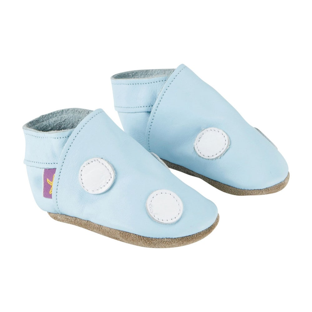 Starchild baby shoes 12 18 months blue polka dot