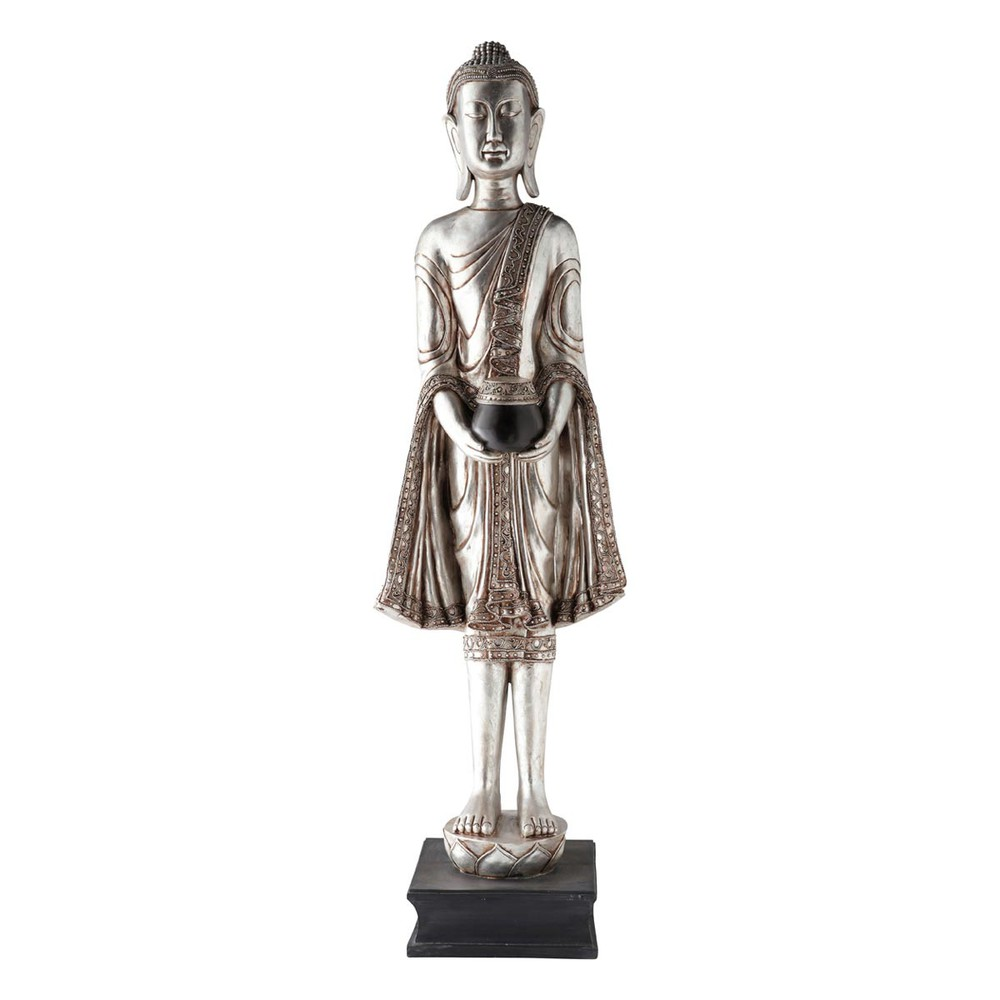statue bouddha l 39 offrande argent maisons du monde. Black Bedroom Furniture Sets. Home Design Ideas