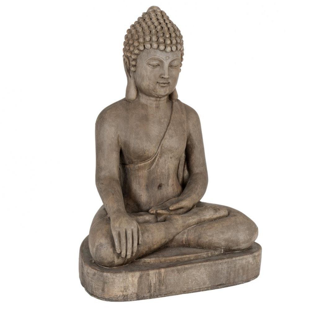 Statue bouddha h 75 cm dhyana maisons du monde for Decoration jardin bouddha