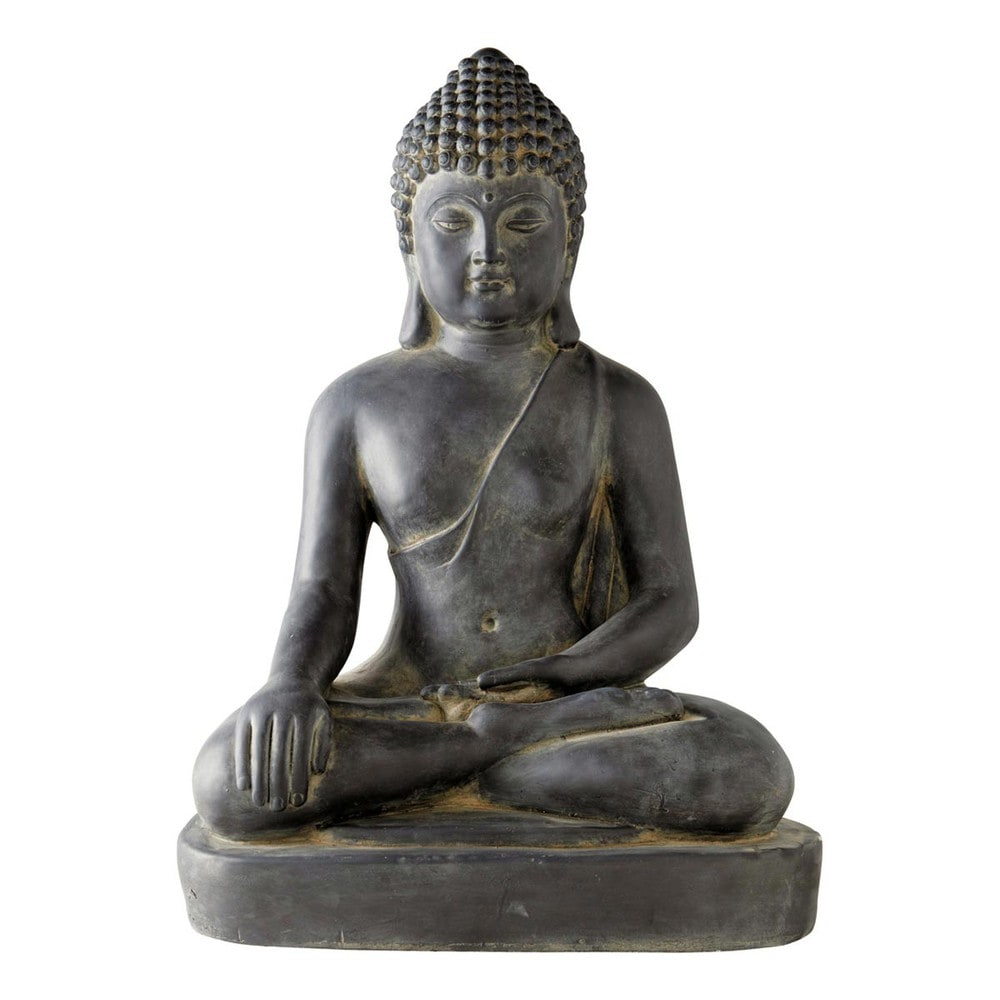 Bouddha deco jardin statue d co bouddha 35cm statue t - Tete de bouddha en pierre pour jardin ...