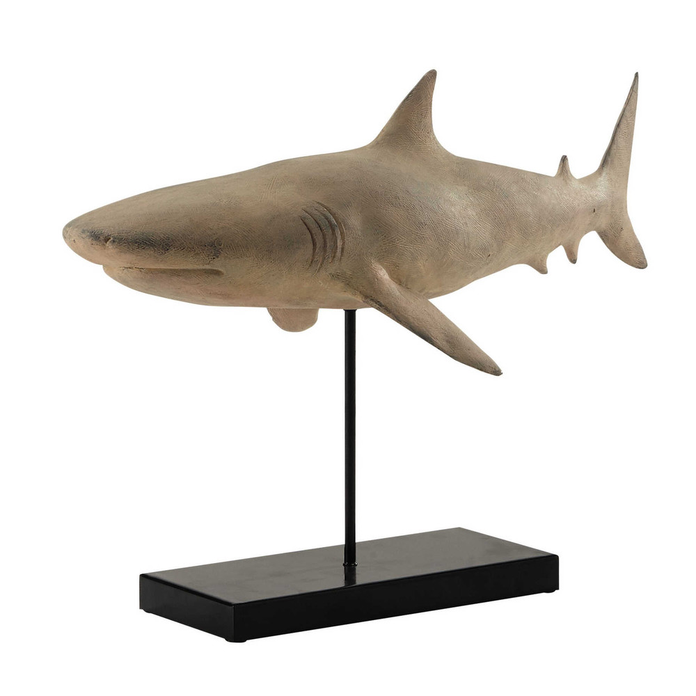statue requin en r sine l 56 cm bruce maisons du monde. Black Bedroom Furniture Sets. Home Design Ideas