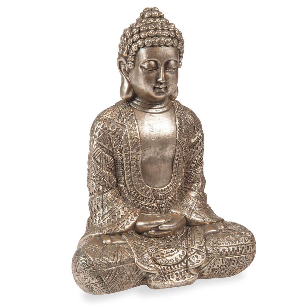 statuette bouddha h 23 cm kibungo maisons du monde. Black Bedroom Furniture Sets. Home Design Ideas