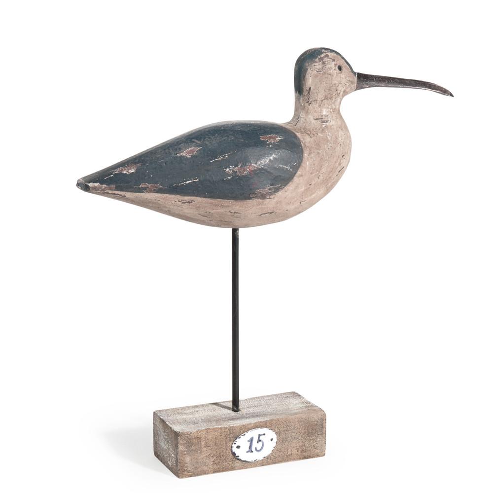 statuette oiseau en bois h 30 cm pidemeire maisons du monde. Black Bedroom Furniture Sets. Home Design Ideas