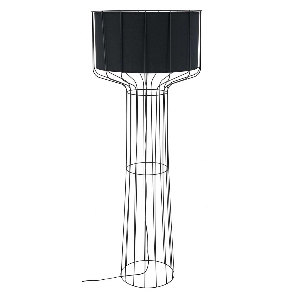 stehlampe aus metall und baumwolle schwarz pulse maisons du monde. Black Bedroom Furniture Sets. Home Design Ideas
