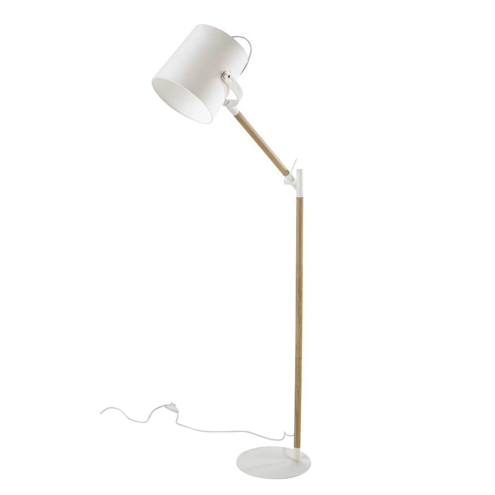 Stehlampe groenland aus metall und wei er baumwolle h 154 for Maison du monde lamparas de mesa
