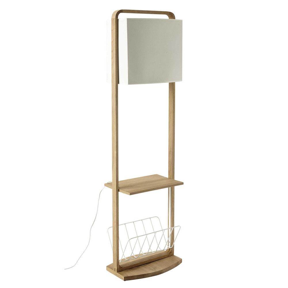 stehlampe mit ablagen antartik aus eiche h 153 cm natur. Black Bedroom Furniture Sets. Home Design Ideas