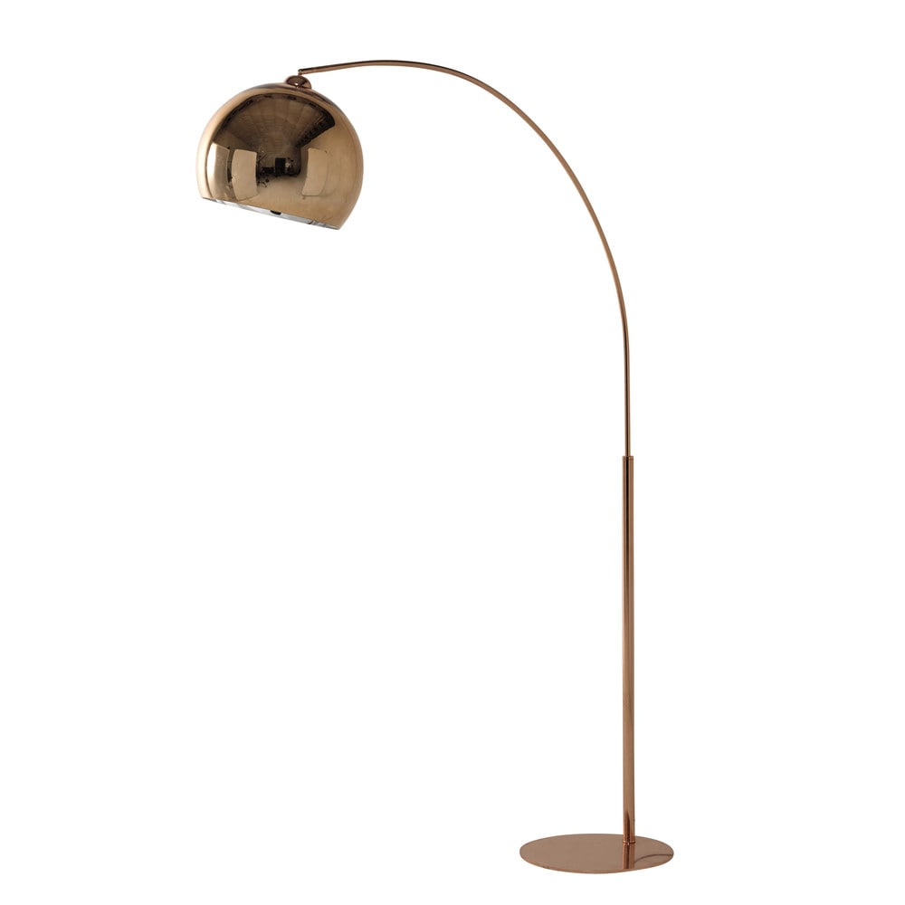 stehlampe sphere copper aus kupferfarbenem metall und plexiglas h 195 cm maisons du monde. Black Bedroom Furniture Sets. Home Design Ideas