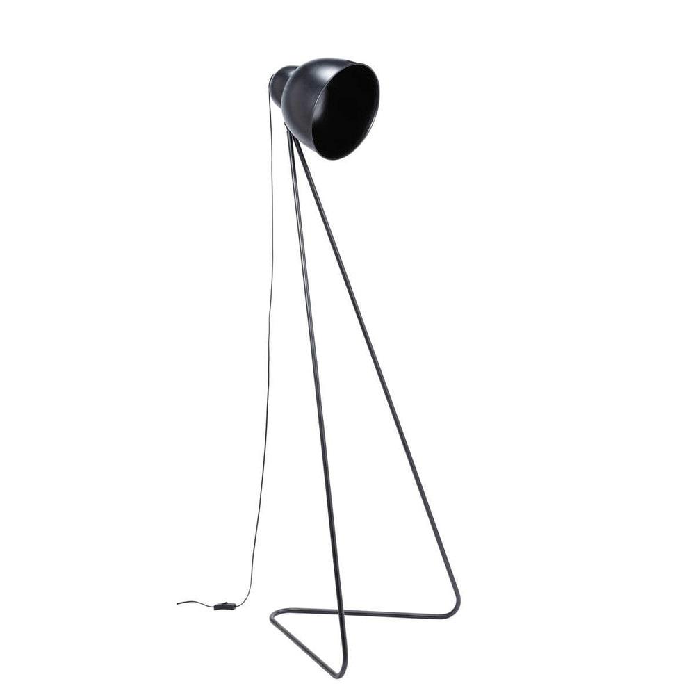 stehleuchte ziggy aus metall h 150 cm schwarz maisons du monde. Black Bedroom Furniture Sets. Home Design Ideas