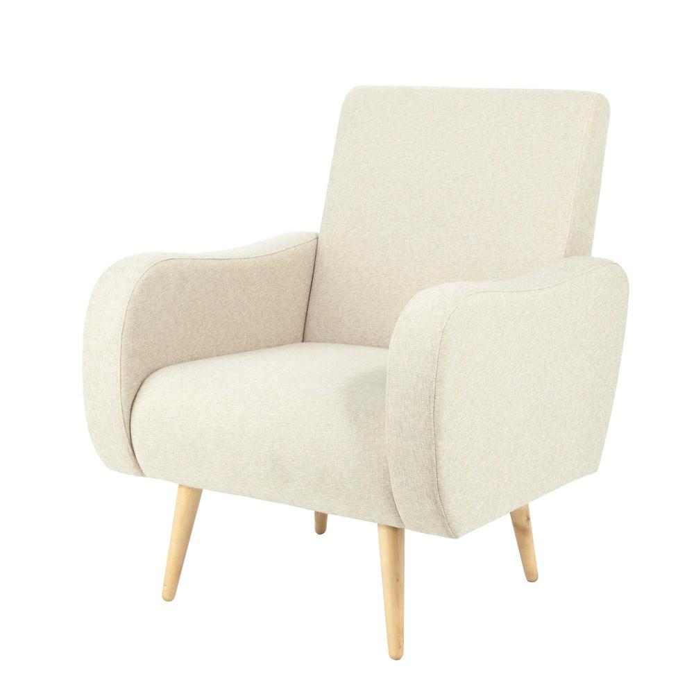 stoffsessel im vintage stil beige meliert waves maisons. Black Bedroom Furniture Sets. Home Design Ideas