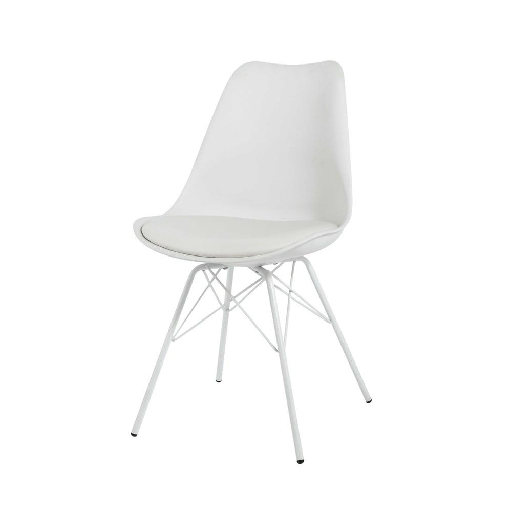Stuhl aus Kunststoff und Metall, weiß Coventry  Maisons ...