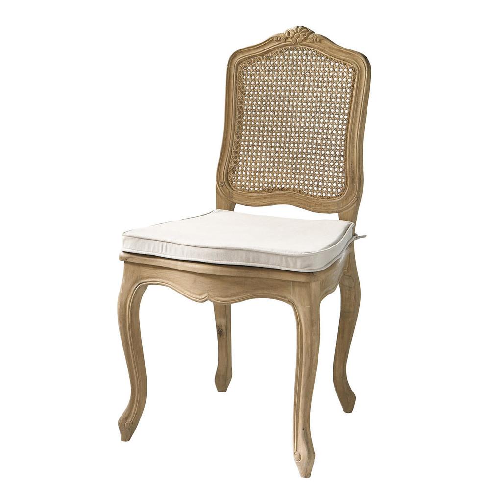 stuhl aus massiver eiche mit rohrgeflecht gustavia gustavia maisons du monde. Black Bedroom Furniture Sets. Home Design Ideas