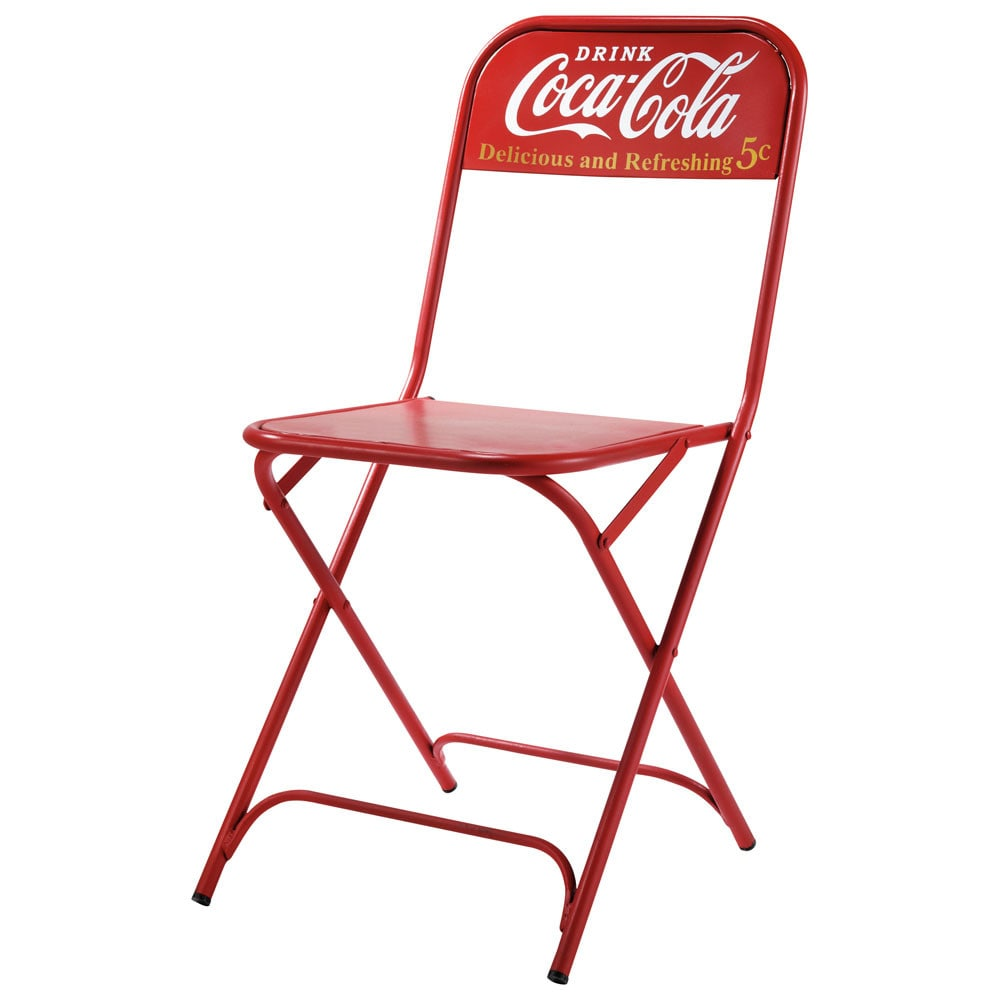 stuhl coca cola coca cola maisons du monde. Black Bedroom Furniture Sets. Home Design Ideas