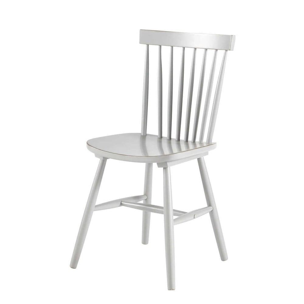 Stuhl im Vintage-Stil aus Kautschukbaum, grau Fjord   Maisons du Monde