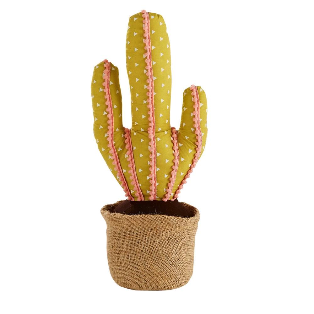sujetapuertas cactus verde y rosa h 47 cm maisons du monde. Black Bedroom Furniture Sets. Home Design Ideas
