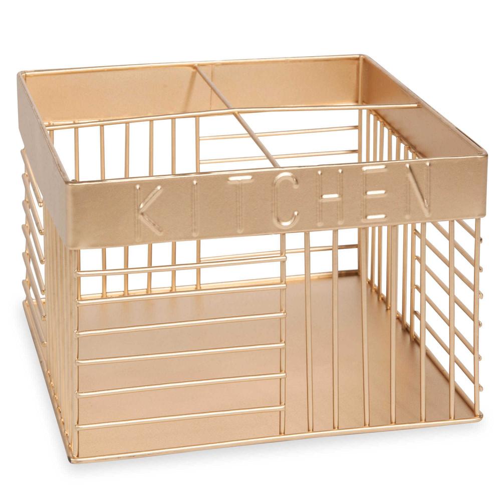 support couverts en m tal dor urban maisons du monde. Black Bedroom Furniture Sets. Home Design Ideas