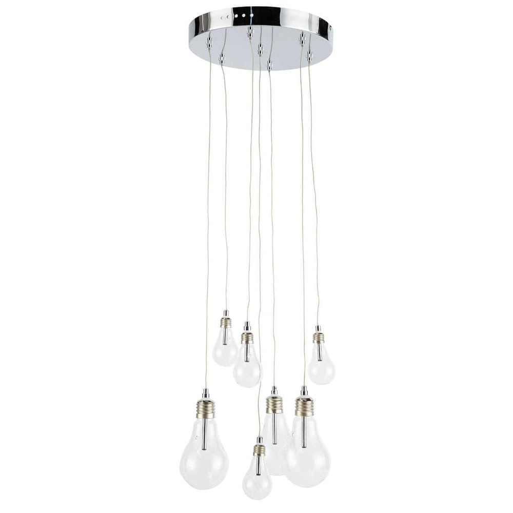 Suspension 7 ampoules lumi res maisons du monde for Suspension 4 ampoules