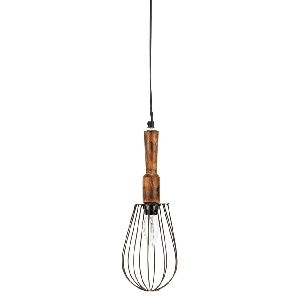 suspension baladeuse en bois et m tal d 13 cm l ontine maisons du monde. Black Bedroom Furniture Sets. Home Design Ideas