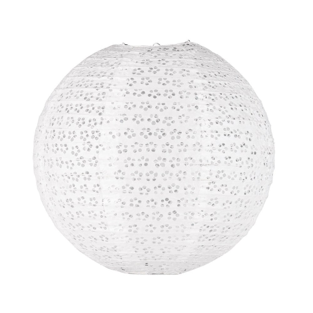 Suspension boule blanche songe maisons du monde for Lustre boule blanche