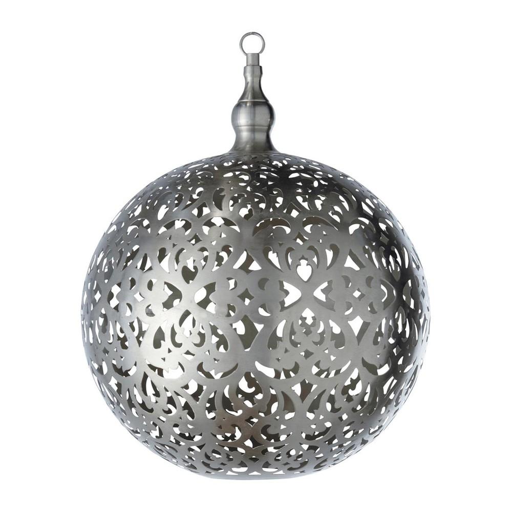 Suspension boule non lectrifi e en m tal d 40 cm rabia maisons du monde - Lampe orientale maison du monde ...