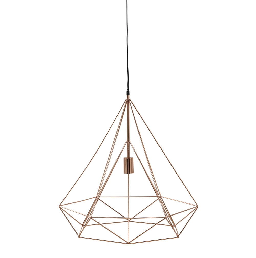 Suspension en m tal cuivr d 60 cm iron copper maisons for Luminaire suspension cuivre