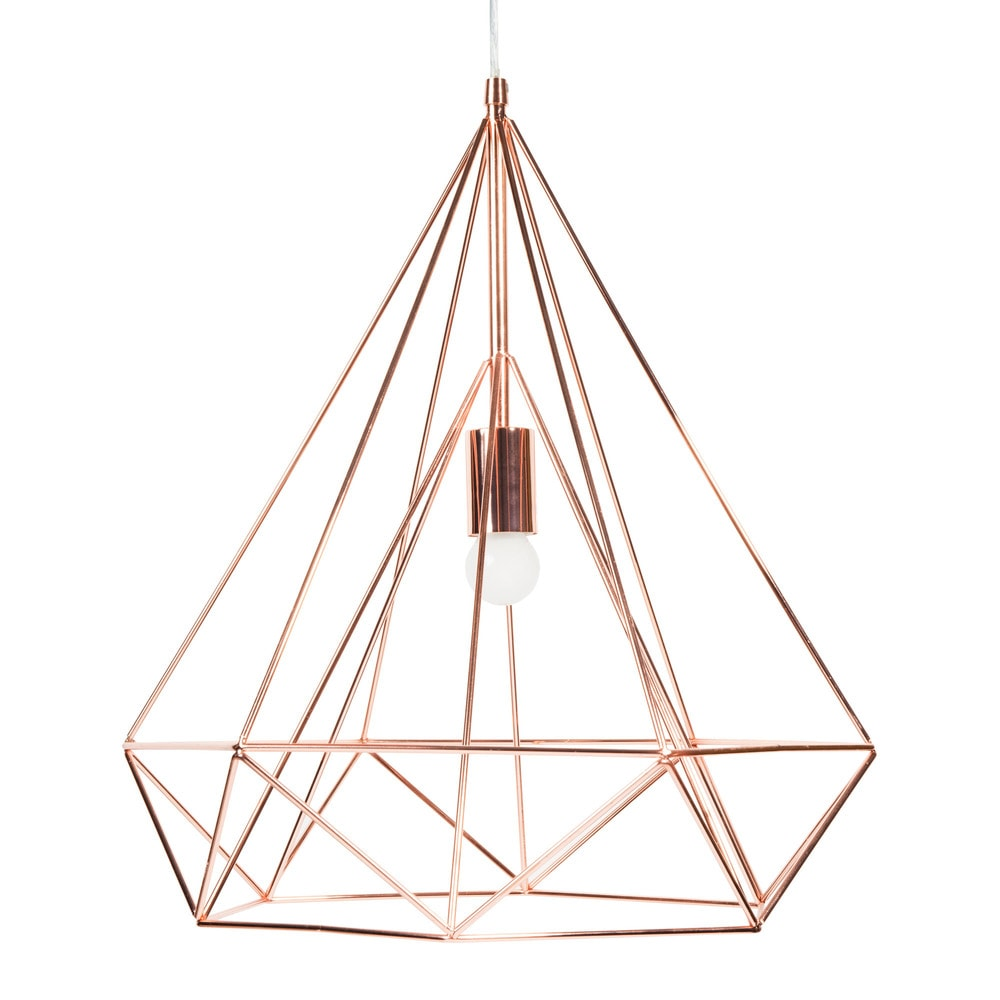 suspension en m tal d 45 cm diamond copper maisons du monde. Black Bedroom Furniture Sets. Home Design Ideas